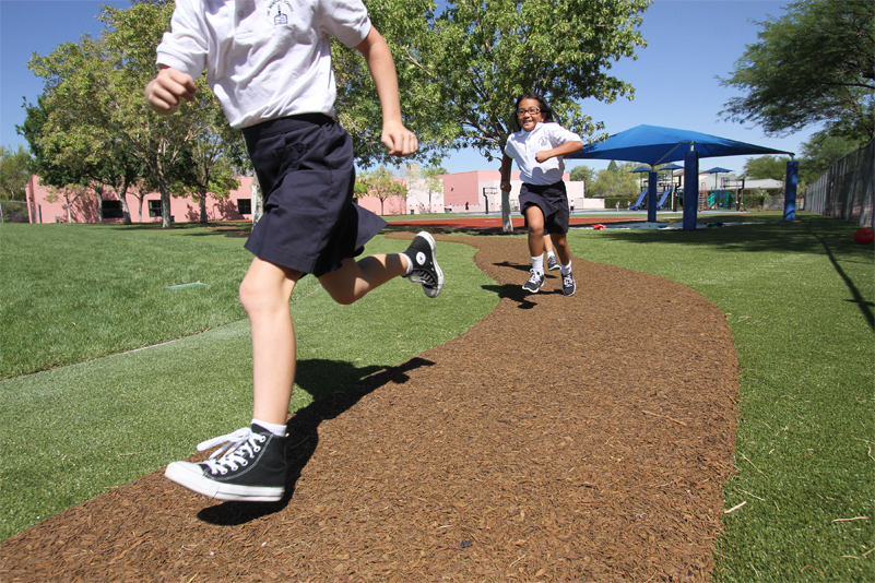 Play It Bonded Rubber Mulch Walkways Amp Jogging Trails